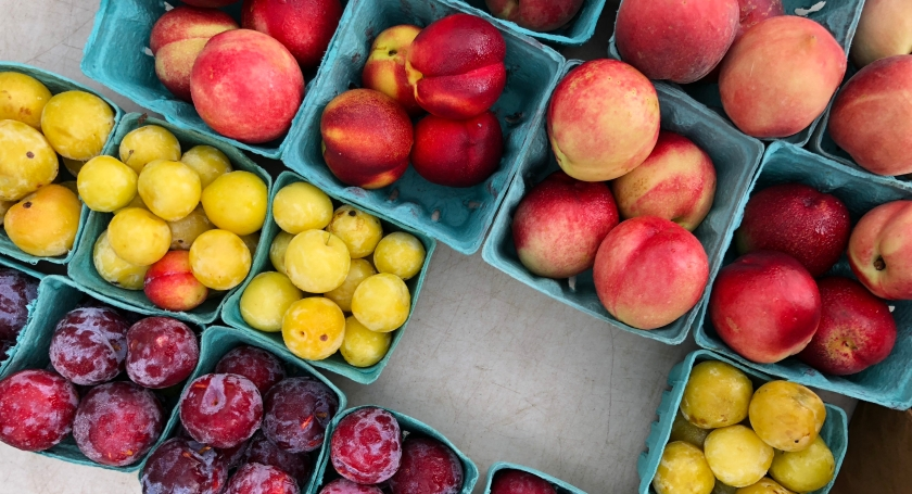 Farmers Market Peaches and Plums